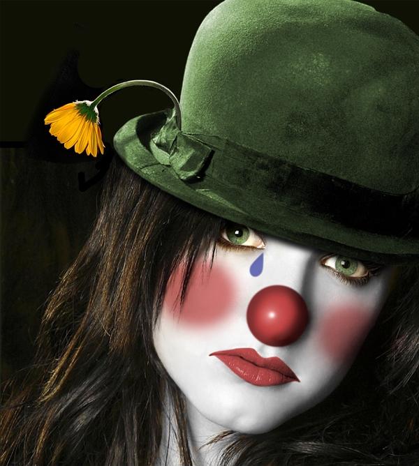 SOMBREROS  Y GORRITOS  DE CUALQUIER ÉPOCA... Clown-face