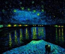 Cielo stellato pittura